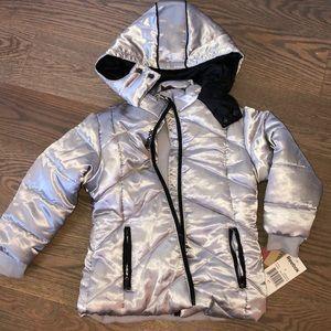 BRAND NEW silver Reebok jacket